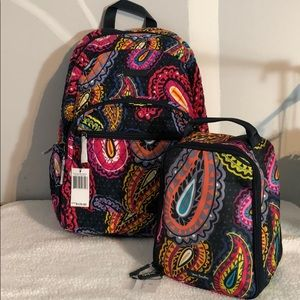 NWT Vera Bradley Backpack and lunch set Twilight P